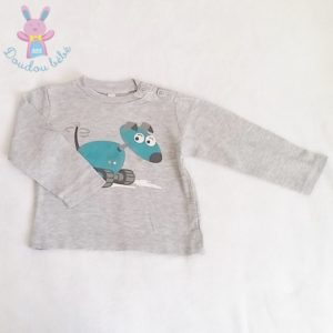 T-shirt gris bébé garçon 18 MOIS