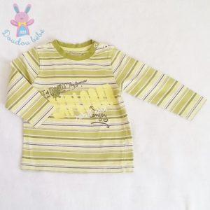 T-shirt rayé vert bébé garçon 18 MOIS