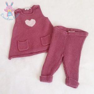 Ensemble robe + legging bébé fille 3 MOIS