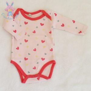 Body rose cœurs colorés bébé fille 3 MOIS