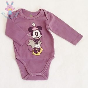 Body violet Minnie bébé fille 6 MOIS DISNEY