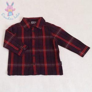 Chemise à carreaux prune bébé garçon 9/12 MOIS MEXX