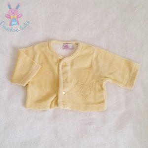 Gilet velours jaune bébé mixte 0 MOIS (45 cm)