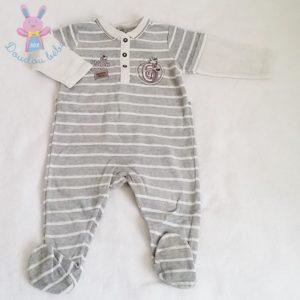 Pyjama velours gris bébé garçon 12 MOIS SERGENT MAJOR