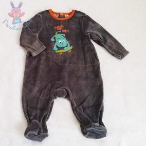 Pyjama velours gris bébé garçon 12 MOIS ORCHESTRA