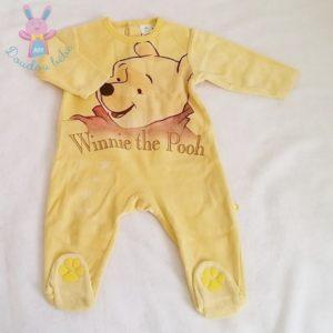 Pyjama velours jaune Winnie bébé garçon 12 MOIS DISNEY