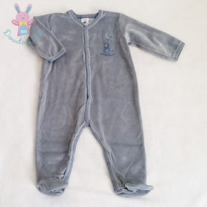 Pyjama velours bleu bébé garçon 12 MOIS PETIT BATEAU
