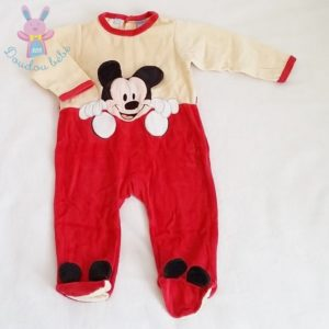 Pyjama velours Mickey bébé garçon 12 MOIS DISNEY