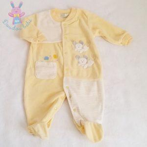 Pyjama velours jaune bébé garçon 9 MOIS