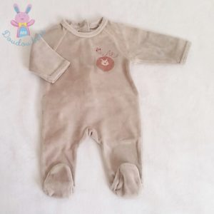 Pyjama velours bébé garçon 1 MOIS VERTBAUDET