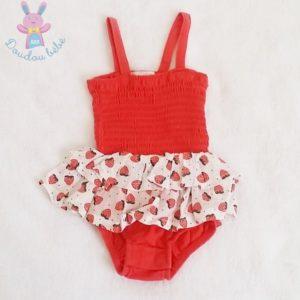Body à volants fraises bébé fille 3 MOIS