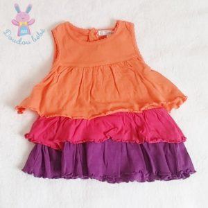 Robe à volants colorés bébé fille 3 MOIS