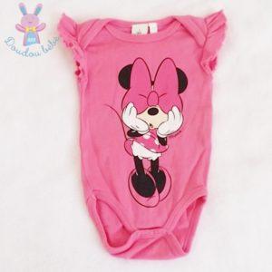 Body fuchsia Minnie bébé fille 3 MOIS DISNEY