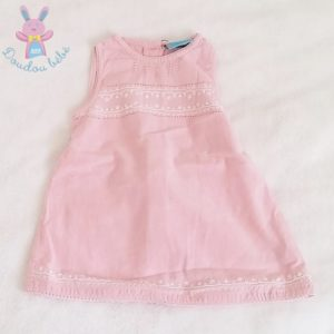 Robe rose brodée bébé fille 6 MOIS DPAM