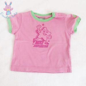 T-shirt rose vert bébé fille 6/9 MOIS NIKE