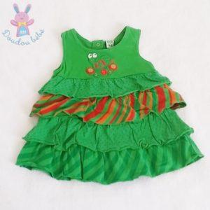 Robe à volants verts bébé fille 6 MOIS
