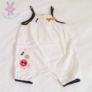 Barboteuse blanche bébé fille 6 MOIS ORCHESTRA