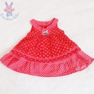 Robe rouge à pois bébé fille 6 MOIS ORCHESTRA
