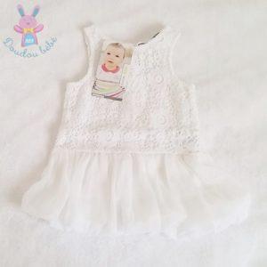 Robe blanche bébé fille 6 MOIS ORCHESTRA