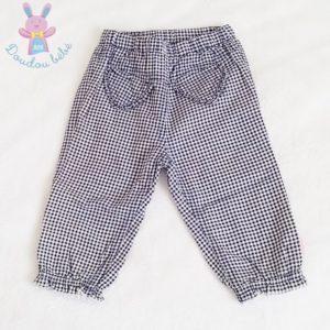 Pantalon vichy bleu bébé fille 6/9 MOIS MEXX