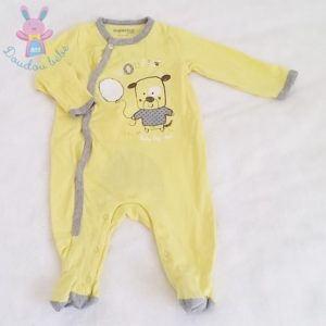 Pyjama coton jaune bébé 6 MOIS ORCHESTRA