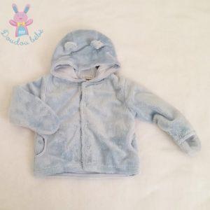 Blouson à capuche bleu bébé garçon 6 MOIS
