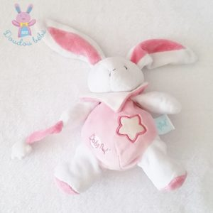 Doudou Lapin blanc rose luminescent BABY NAT