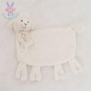 Doudou plat Mouton blanc gris HAPPY HORSE