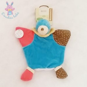 Doudou marionnette Taupe bleu rose NOUNOURS