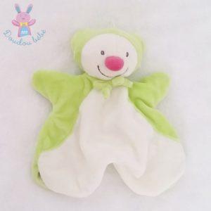 Doudou marionnette Lutin Ours vert blanc KIABI