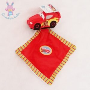 Doudou Cars Flash Mac Queen mouchoir rouge DISNEY