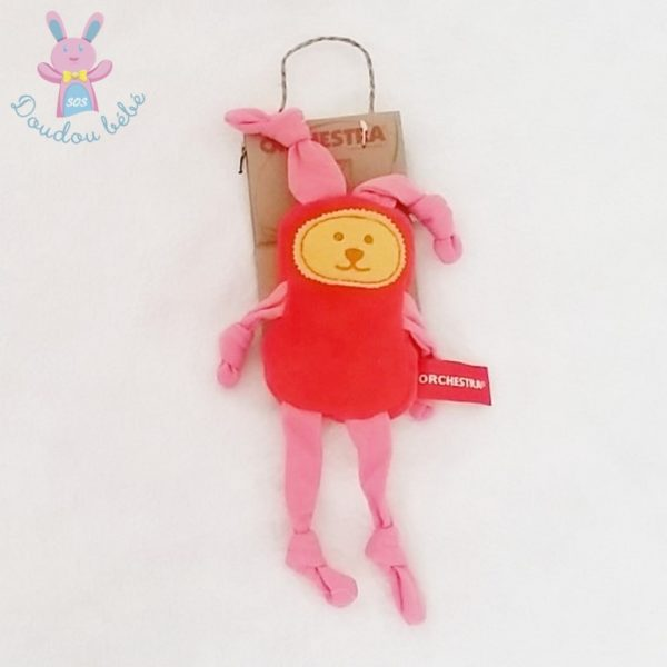 Doudou Lapin rouge rose ORCHESTRA