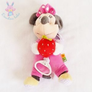 Doudou Minnie musical rose fraise DISNEY
