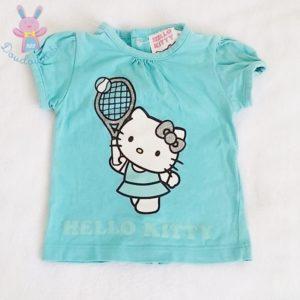 T-shirt bleu bébé fille 1 MOIS HELLO KITTY