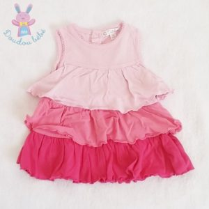 Robe rose à volants bébé fille 1 MOIS