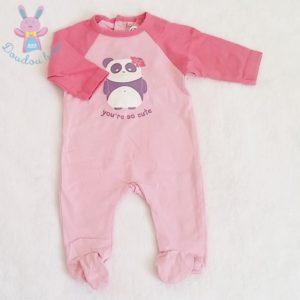 Pyjama coton rose Panda bébé fille 1 MOIS