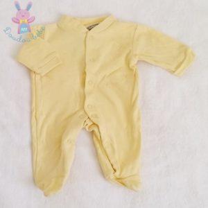 Pyjama coton jaune bébé 0 MOIS LES CHATOUNETS