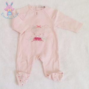 Pyjama coton rose fillette bébé fille 1 MOIS
