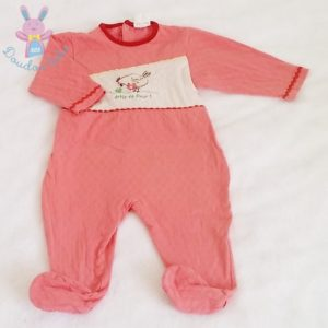 Pyjama coton rose bébé fille 12 MOIS