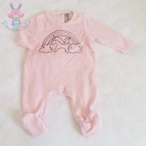 Pyjama velours bébé fille 3 MOIS ORCHESTRA