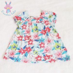 Robe fleurs colorées bébé fille 12 MOIS