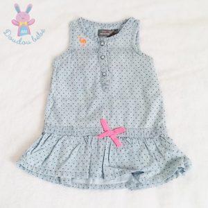 Robe bleu à pois bébé fille 12 MOIS ORCHESTRA
