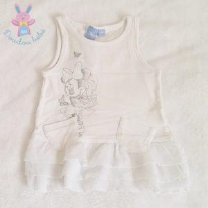 Robe blanche Minnie bébé fille 9 MOIS DISNEY
