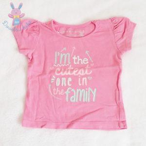 T-shirt rose bébé fille 9/12 MOIS