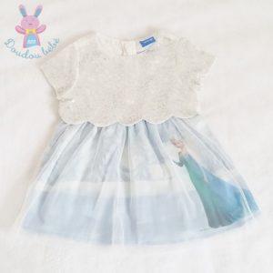 Robe Reine des neiges bébé fille 9 MOIS DISNEY