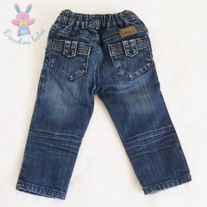 Pantalon jean bleu bébé fille 12 MOIS CATIMINI