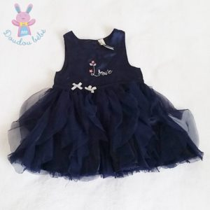Robe tulle bleu de fête bébé fille 3 MOIS ORCHESTRA