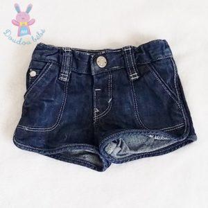 Short jean bleu bébé fille 6 MOIS