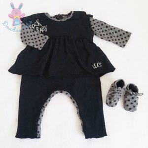 Combinaison + chaussons bébé fille 6 MOIS IKKS