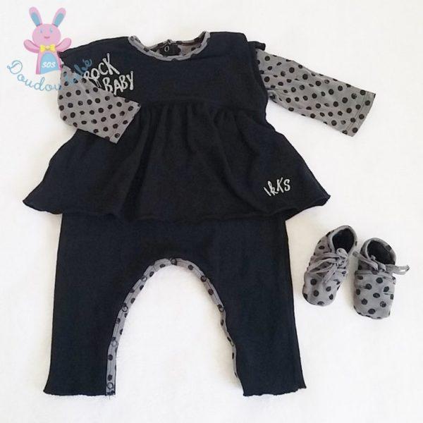 Combinaison et chaussons bébé fille 6 MOIS IKKS